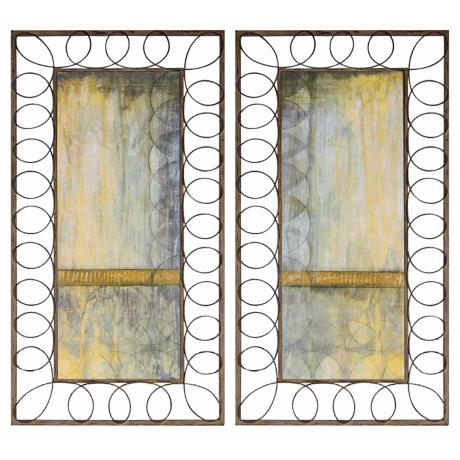 "Set of 2 Uttermost Circles Repeat I and II 20"" Wide Wall Art"