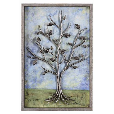 "Uttermost Skyline 24"" Wide Relief Wall Art"