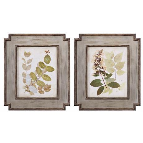 "Set of 2 Uttermost Nature's Collage 25 1/4""  Wide Wall Art"