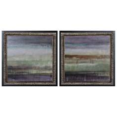 Set of 2 Uttermost Purple Rain I and II Square Wall Art