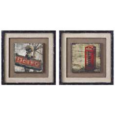 Uttermost Set of 2 Framed Metro London Wall Art I and II