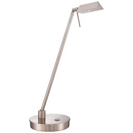 George Kovacs Brushed Nickel Tented LED Desk Lamp