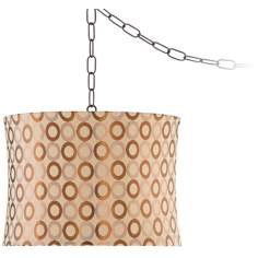 "Ring Shade 14"" Wide Swag  Pendant Light"