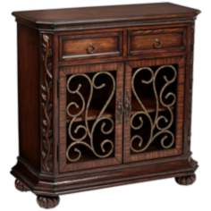 Arriana Dark Cherry Wood Console