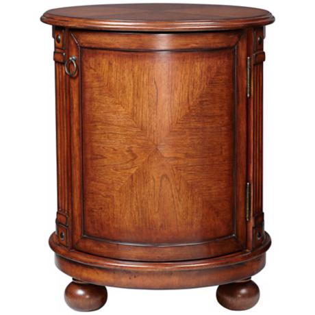 Brooke Cherry Round Accent Table