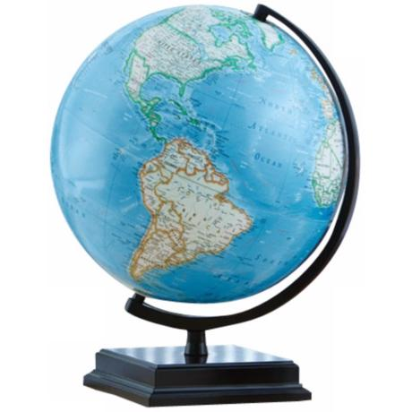 "Cambria 16"" High Blue Ocean World Globe"
