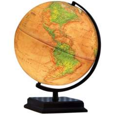 "Cameron Brown Ocean 16"" High Illuminated World Globe"