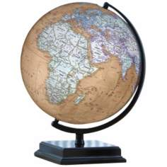 "Cameron 16"" High Brown Ocean World Globe"
