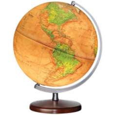 "Montour Brown Ocean 15"" High Illuminated Globe"