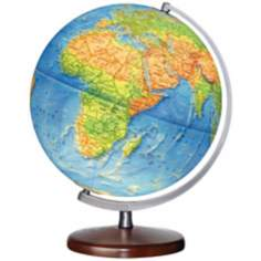 "Somerset Blue Ocean 15"" High Illuminated Globe"