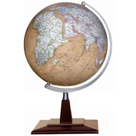 "Discovery Berks Brown Ocean 18"" Tabletop Globe"