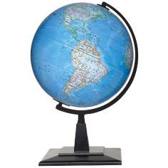 "Discovery Crawford Blue Ocean 16"" High Tabletop Globe"