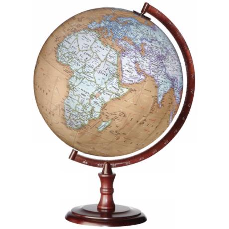 "Clarion Classic 18"" High Brown Ocean Globe"