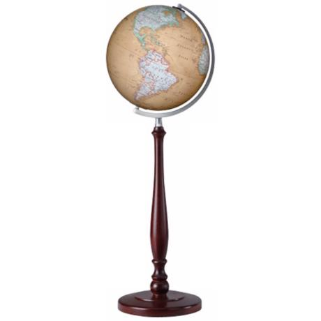 "Discovery Expedition York 36"" High Brown World Globe"