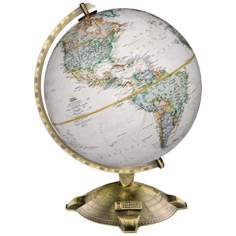 "Allanson Brown Ocean 17"" High National Geographic Globe"