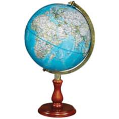 "Hudson 20"" High Blue Ocean National Geographic Globe"