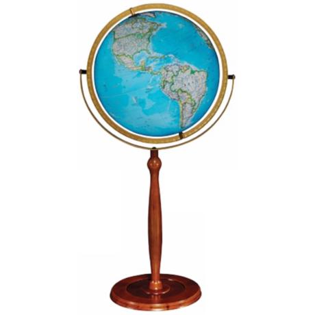 "Chamberlain Blue Ocean 37 1/2"" High Illuminated Globe"