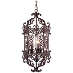 "Bravada Chestnut 14 1/2"" Wide Outdoor Pendant Light"