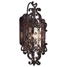 "Bravada Chestnut 25"" High Outdoor Wall Sconce"