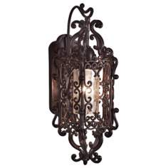 "Bravada Chestnut 22"" High Outdoor Wall Sconce"