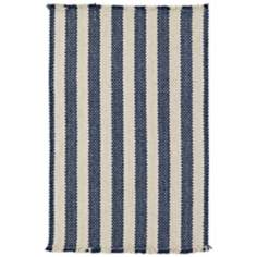 Outer Banks Blue Stripes Collection Area Rug