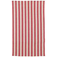 Outer Banks Red Stripes Collection Area Rug