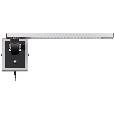 Black And Silver Contemporary LED Swing Arm Lamp