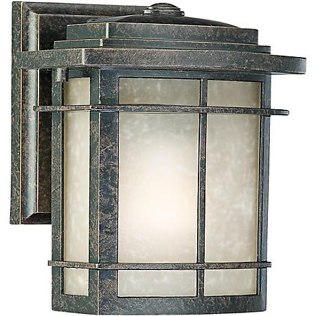 "Quoizel Galen Bronze 7 1/2"" High Outdoor Wall Lantern"
