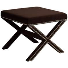 Adara Bella Chocolate Brown Bench Stool