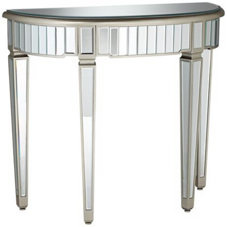 Valerie Mirrored Console Table