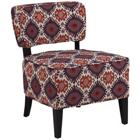 Alara Berry Allesandra Armless Club Chair