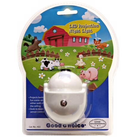 Barnyard Scene LED Projection Night Light