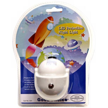 Space Rocket Scene LED Projection Night Light