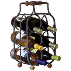 Black Metal 6-Bottle Wine Holder
