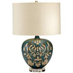 Cyprus Floral Wood Table Lamp