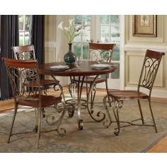 St. Ives Cinnamon Cherry 5-Piece Wood Dining Set