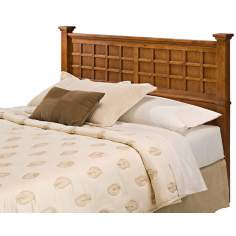Arts and Crafts Cottage Oak Lattice Queen Headboard