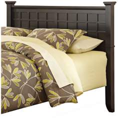 Arts and Crafts Black Lattice Queen Headboard