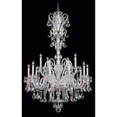 "Schonbek Silver Novielle 35"" Elements Crystal Chandelier"