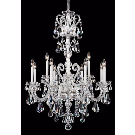 "Schonbek Silver Novielle 32"" Elements Crystal Chandelier"
