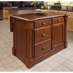 Aspen Rustic Cherry Wood Kitchen Island