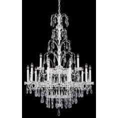 "Schonbek Ekaterina 33"" Wide White Crystal Chandelier"