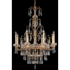 "Schonbek Ekaterina 29"" Wide French Gold Crystal Chandelier"