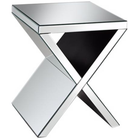 Veda Silver Mirror Accent Table