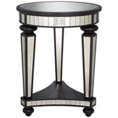 Tyra Mirror Round Accent Table