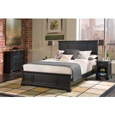 Bedford Ebony Queen Bed Night Stand and Chest Set