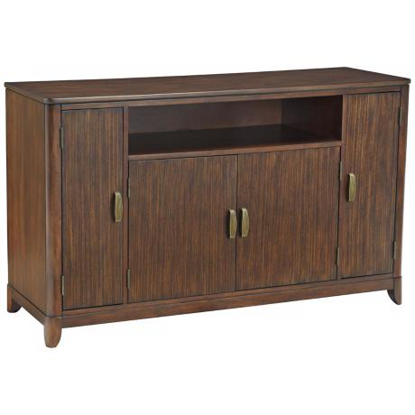 Paris Collection Mahogany TV Credenza