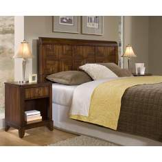 Paris Mahogany Queen Headboard and Night Stand Set