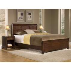Paris Mahogany Queen Bed and Night Stand Set