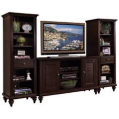 Bermuda 3-Piece Espresso Entertainment Center